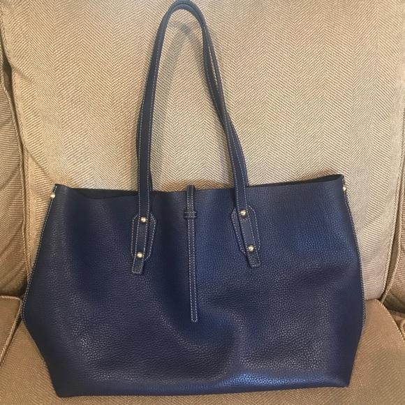 5061e0cf95 J. McLaughlin Handbags - J.Mclaughlin Blue Leather Annie Tote